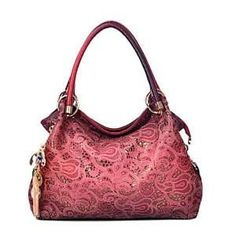 Hollow Out Large Leather Tote Women Shoulder Bags