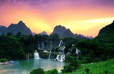 Detian waterfall China