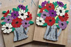#progress  #mosaics #wip #workinprogress #anemones #flowerstagram #art #mosaic #flowers #nearlydone