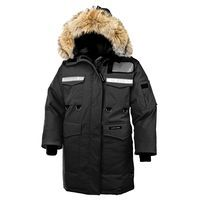 Reinforced design for industrial protection in extreme Arctic conditions.Fit: RelaxedFill: 625 Fill Power White Duck DownCoyote fur ruff: RemovableFeatures• Mid-thigh length• Removable coyote fur ruff surrounding a 3-way adjustable tunnel hood (vertically, horizontally and hood opening), with an adjustable bracing wire for superior protection in high-wind conditions• High-pile, fleece-lined chin guard for comfort• Heavy-duty, centre front YKK® 2-way locking zipper• Storm flap over centre…