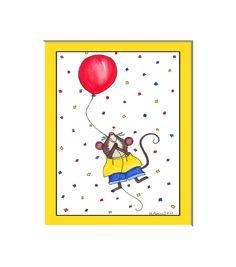 Flying high mouseballoon wall art for kids by HamiltonArtandDesign, $15.00