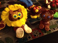 Chestnuts crafts with play dough