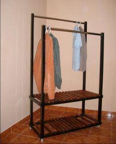 Garment rack aris better living garments rack beech wood - Burros para ropa ...