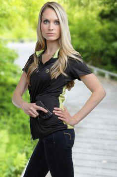 Concealed Carry Athletic Shirt for Active Women