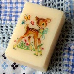 Bambi soap - I LOVED these! The picture stayed the whole way through the soap!
