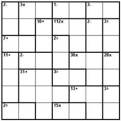 Number Logic Puzzles: 21437 - Kenken size 7