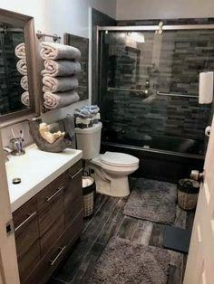 Best Inspiration Bathroom Renovation Ideas Home Design Bathroom Design Small, Bathroom Interior Design, Small Bathroom Ideas, Small Bathroom Renovations, Bathroom Remodeling, Bathroom Wall Decor, Bathroom Lighting, Basement Bathroom Ideas, Rustic Bathrooms