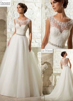 b78c877d9f 2015 New White / Ivory Wedding Dress Bridal Gown Custom Size 6-8-10-12-14-16