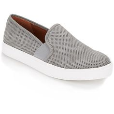 Steve Madden Evalia Perforated Suede Sneakers ($40) ❤ liked on Polyvore  featuring shoes,
