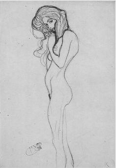 Gustav Klimt erotica sensual12 Life Drawing, Figure Drawing, Drawing Sketches, Painting & Drawing, Art Drawings, Klimt Art, Fine Art, Erotic Art, Oeuvre D'art