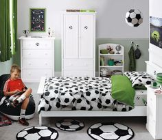 Soccer Kids Exclusive And Modern Master Bedroom With Green