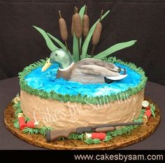 3D Duck Hunting Themed Cake by Abigalea