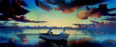 "Saatchi Online Artist Geoffrey Greene; Painting, ""Tom Benton Fishing Club - SOLD"" #art"
