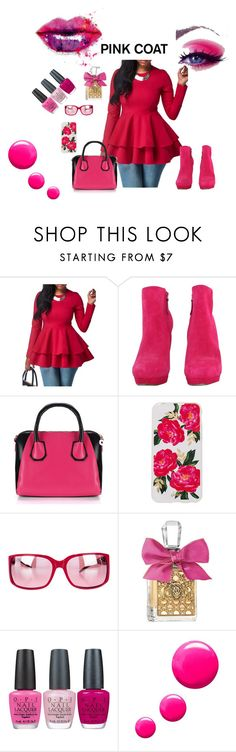 """Pretty Pink Coats"" by anchesky ❤ liked on Polyvore featuring McQ by Alexander McQueen, Sonix, D&G, Juicy Couture, OPI, Topshop and pinkcoats"
