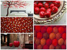 FilzKugelTeppich kann immer die gute Lösung sein! Der Radical Red Teppich unterteilt den Raum optisch trotz bietet ein starkes Sommergefühl, die man sehr lieben wird. Kräftige Kirschfarbe für die Mutige. FilzKugelTeppiche jetzt mit Obstfarben jetzt auf http://filzkugelteppiche.de/blog/filzkugel-teppiche-mit-obstfarben
