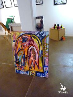 En décembre 2014, j'ai exposé des toiles au Pop Store qui s'est tenu à La voute éphémère à Paris. De nombreux autres artistes ont pu montrer et vendre leur travail. Le 100 était à l'initiative de c...