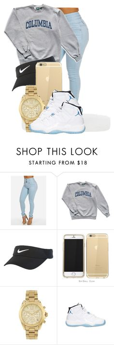 """."" by ray-royals ❤ liked on Polyvore featuring Columbia, NIKE, Michael Kors, Retrò, women's clothing, women's fashion, women, female, woman and misses"