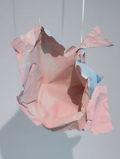 """Help is not appealing"" by Karla Black who has been shortlisted for the 2011 Turner Prize Abstract Sculpture, Sculpture Art, Paper Sculptures, Contemporary Bridesmaids Dresses, Karla Black, Bokashi, Gallery Of Modern Art, Dark Material, Comme Des Garcons"