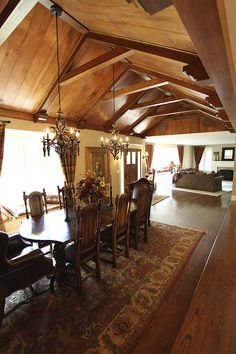 What do you think of vaulted wood ceilings? I don't like feeling like I live inside a tree. No offense, trees.