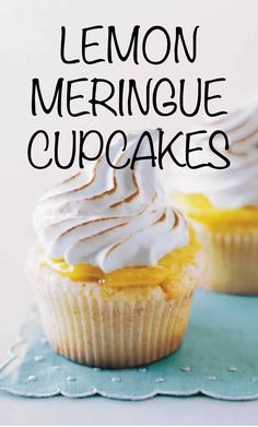 Lemon Meringue Cupcakes | Martha Stewart Living - These cheerful nibbles are inspired by Martha's signature lemon meringue pie. Martha made this recipe on Martha Bakes episode 308.
