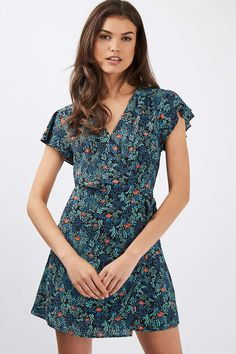 Ditsy Floral Wrap Dress - New In This Week - New In - Topshop