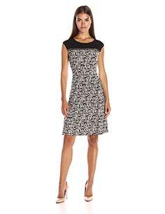 Calvin Klein Women's Printed Dress W/Horizontal Zip - http://www.darrenblogs.com/2016/08/calvin-klein-womens-printed-dress-whorizontal-zip/