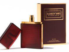 Elizabeth and James Nirvana Rose Fragrance with notes of geranium, Mai de rose, and vetiver. Floriental perfume