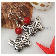 Dangle Butterfly Earrings EJEW-JE00214-10-1