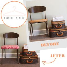 Reupholster your chair.
