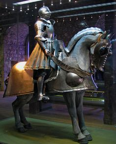 King Henry VIII armour    The armour belonging to Henry Tudor, exhibited at the Tower of London, England.