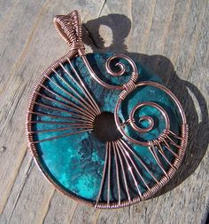 Turquoise & Copper by wild soul studio, via Flickr