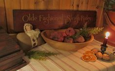 Primitive and Colonial Old Fashioned Sleigh Ride Sign