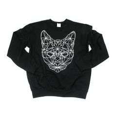Sweater blouse jumper geometric cat size S by WorldOfCat on Etsy, zł129.00