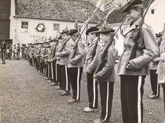Sandvikens Bataljon.Korpset feirer dette året sitt 100-års jubileum - 1957 12th Century, The St, Capital City, Bergen, Thing 1 Thing 2, West Coast, Norway, Medieval