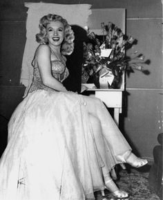 Marilyn on the set of Ladies of the Chorus, 1948.