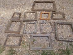 Wood Log and Barnwood picture frames by DirtRdProject on Etsy, $20.00