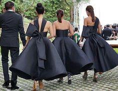 Black entourage dresses!
