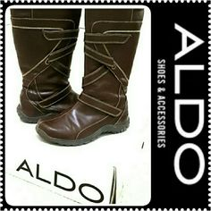 Aldo Leathery Style Boots Aldo Morie Design Boots, Comes Intact with Original Box, Signs of Wear but in Mint Condition ALDO Shoes Winter & Rain Boots