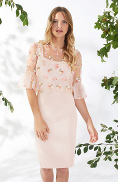 Gina Bacconi Demelza Dress And Overtop Demelza, Spring Summer 2018, Vanity Fair, Types Of Sleeves, Mother Of The Bride, New Look, Bodycon Dress, Elegant, Stylish