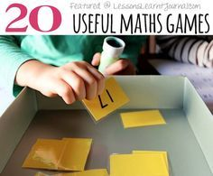 To encourage children's maths concepts in useful and fun ways, because play matters, here are 20 useful math games.