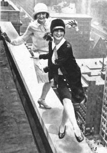 Flappers on a skyscraper:   If they fall, flapping will do them little good...