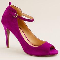 Elisabetta peep-toe heels