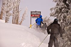Going into El Cap on a pow day by Mt. Rose Ski Tahoe, via Flickr