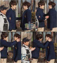Kim woo bin and lee jung suk: bts kiss in school 2013 Lee Jong Suk, Jung Suk, Lee Jung, Lee Hyun Woo, Korean Actresses, Asian Actors, Korean Actors, Korean Celebrities, Korean Dramas