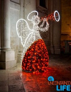 Angel, Christmas in Dubrovnik, Croatia, Uncontained Life