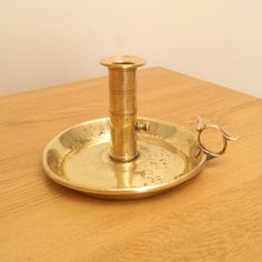Antique solid brass push up very heavy and big candle by UKAmobile