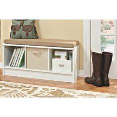 "Latitude Run Nordland 85.9"" H x 41.8"" W Over Bed Shelving Unit   Wayfair Cube Storage Bench, Entryway Bench Storage, Shoe Storage Cabinet, Toilet Storage, Linen Storage, Cabinet Doors, Storage Spaces, Shoe Storage Unit, Rolling Storage"