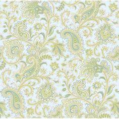 GIR36009 Blue Paisley Swirl - Sadie - Girl's Rule Wallpaper by Chesapeake