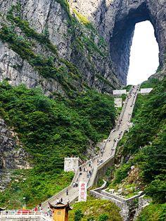 Tianmen Mountain (Heaven's Gate Mountain), Zhangjiajie,China: