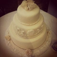 My first wedding cake :) - Made by Lucy Dolan!